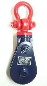 8 Ton Snatch Block With Swivel Shackle Safety Latch 6 Sheave 3 4 Wire Rope