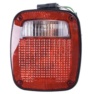 Tail Light Left Side Black Housing Jeep Wrangler 1991 1997 12403 13 Omix ada