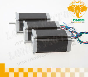 Longs Motor 3pcs Nema23 Dual Shaft Stepper Motor 425oz in Cnc 23hs9430b Eu Ship