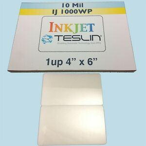 10 Id Card Kit Inkjet Includes 1up Perforated Teslin 7mil Butterfly Pouches