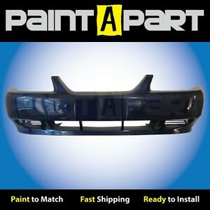 1999 2000 2001 Ford Mustang base Front Bumper Painted L2 True Blue Metallic
