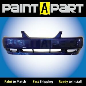 1999 2000 2001 Ford Mustang base Front Bumper Painted Sn Sonic Blue Pearl