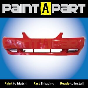 2002 2003 2004 Ford Mustang Base Front Bumper Painted Es Performance Red