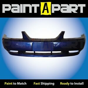 2002 2003 2004 Ford Mustang Gt Front Bumper Painted Sn Sonic Blue Pearl