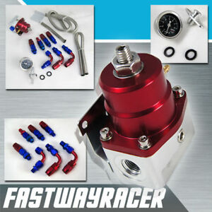 Universal 0 160 Psi Adjustable Fuel Pressure Regulator With Gauge Ej20 Ej25 Ej22