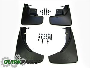 2011 2018 Jeep Grand Cherokee Splash Guards Front Rear Set Genuine Mopar Oem