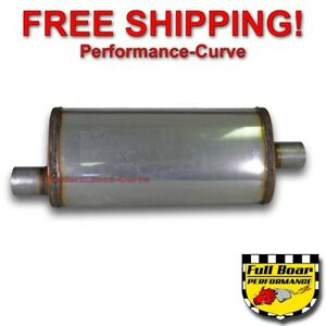 2 25 O c Performance Exhaust 18 Muffler Max Flow Stainless Steel 5x8 Mf2255