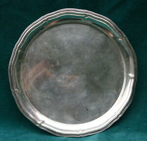 Antique German 800 Silver Round Tray Magnificent