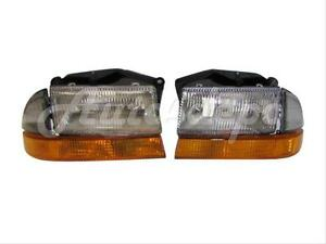 For 1998 2004 Dodge Dakota 1998 2003 Durango Headlight Park signal Light 4 Pcs