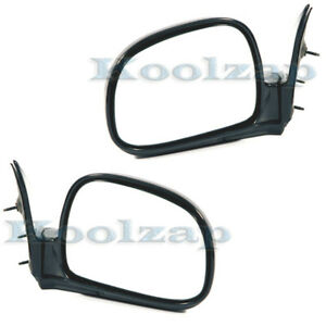 94 97 Chevy S10 Pickup Truck Manual Black Fold Mirror Left Right Side Set Pair