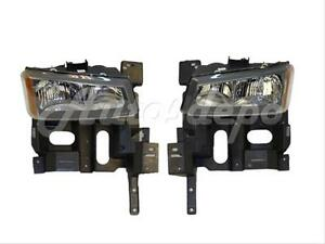 For 2005 2007 Chevy Silverado Headlight W Bulb Header Mounting Support Panel 4p