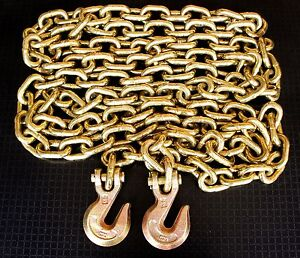 1 2 X 20 G70 Truck Tie Down Chain Binder Transport Chain Tow Chain W Grab Hook