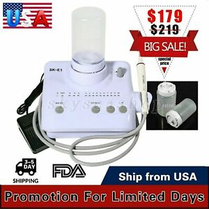 Portable Dental Ultrasonic Piezo Scaler Handpiece Tips Bottles F Ems Woodpecker