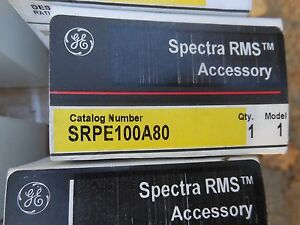 Ge Spectra Srpe100a80 80amp Circuit Breaker Rating Plug New In Box Warranty