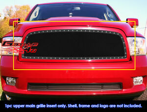 Fits Dodge Ram 1500 Stainless Steel Black Mesh Grill Insert Fits 2009 2012