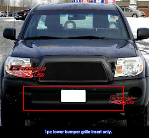 Fits Toyota Tacoma Bumper Black Stainless Steel Mesh Grill Insert 2005 2011