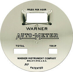 Warner Auto Meter Speedometer Face Cars Trucks 1920s Graham Federal Buick Etc