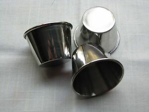 2 5 Oz Stainless Steel Souffle Cups For Drawn Butter cocktail Sc dipping Sc 12pc