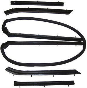 1965 1968 Ford Galaxie 500 Xl New Convertible Top Frame Weatherstrip Seal Set