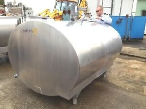 800 Gallon Used Mueller Refrigerated Milk Dairy Sap Stainless Steel Tank W Mixer