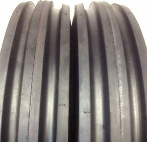 Two 750 16 12 Ply Heavy Duty Tractor Tires F2 7 50 16 Tri Rib 7 50 16 Tubeless
