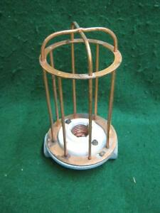 Vintage Industrial Factory Warehouse Steampunk Cage Light Old 2572 13