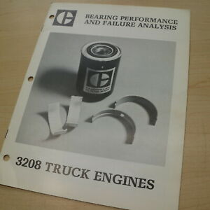 Cat Caterpillar 3208 Truck Engine Bearing Failure Analysis Manual Diese