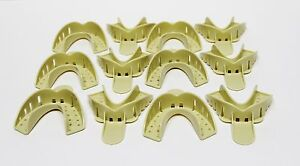 Dental Plastic Disposable Impression Trays Perforated Autoclavable Ll 2 12 Pcs