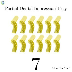 Dental Disposable Impression Trays Perforated Autoclavable Partial 7 12 set