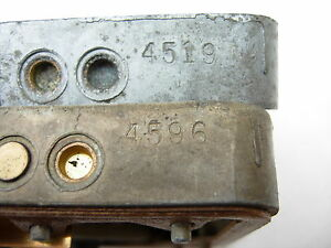 1965 Impala Hi perf 396 425hp Holley Carburetor Metering Blocks 4596 4519