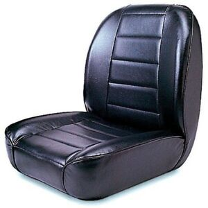 Rugged Ridge Low Back Front Bucket Seat Black 1955 1986 Jeep Cj 13400 01