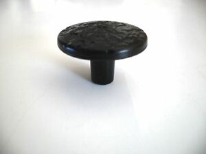 Vintage Nos Satin Black Hammered Cabinet Door Drawer Knobs Handles Rustic Cabin