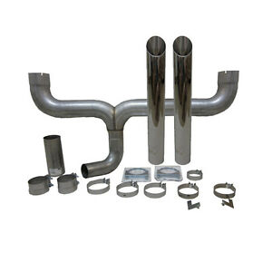 Grand Rock Stack Kit Dual 4 Inlet 4 Stack Angle Cut