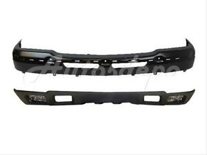For 2003 2004 Silverado Front Bumper Bar Blk Air Deflector Fog Light W tow Hole