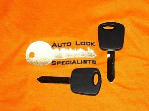 Two Ford H72 pt Pats Transponder Chip Key Blank F 150 1999 2003