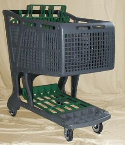 Grey green Large Plastic Grocery Shopping Carts
