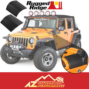 Rugged Ridge Cowl Body Armor Covers Black Fits 2007 2018 Jeep Wrangler Jk