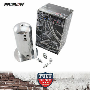 Proflow Polished 2 5lt Fuel Surge Tank With Barb Fittings Suit Bosch 044 2 5l