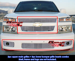 Fits Chevy Colorado Xtreme Billet Grill Combo 04 10