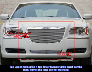 Fits Chrysler 300 300c Billet Grill Combo 2011 2014