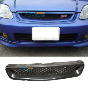 For 99 00 Honda Civic Ek T R Abs Black Front Hood Grill Grille Cx Dx Ex Hx Lx