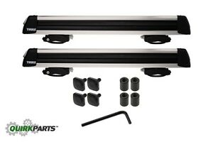07 19 Jeep Dodge Chrysler Thule Universal Rooftop Mount Ski Snowboard Carrier