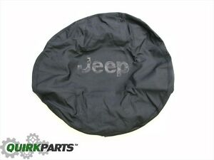 2013 2017 Jeep Wrangler Tire Cover Black Jeep Logo Mopar Genuine Oem Brand New