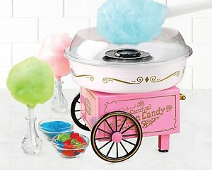 New Nostalgia Vintage Collection Hard And Sugar Free Cotton Candy Maker