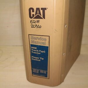 Cat Caterpillar D6m Tractor Dozer Crawler Service Manual Repair Engine Shop Book