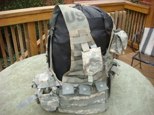 MOLLE II ACU FLC Vest with 2 Triple Mag 2 Grenade 2 canteen Pouches $37.95
