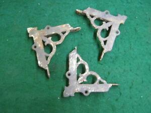 3 Antique Cast Iron Victorian Screen Door Corner Brackets Decorative 2743 13