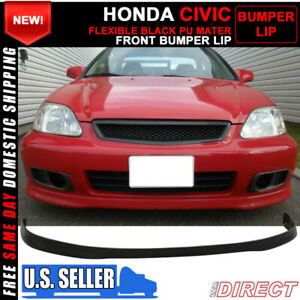 For 99 00 Honda Civic Oe Factory Style Front Bumper Lip Spoiler Pu Urethane