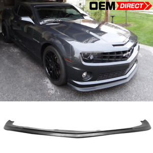 For 10 13 Chevrolet Camaro V8 Pu Front Bumper Lip Zl1 Style Urethane