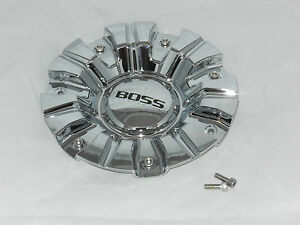 Boss Motorsports Series 345 Wheel Rim Chrome Finish Center Cap Acc 3287 06